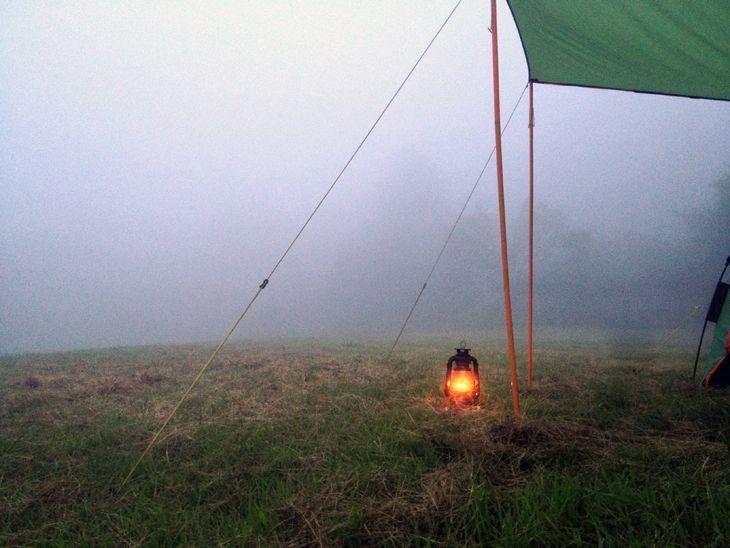 辺り一面の霧